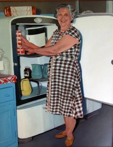 Grandma at the Fridge